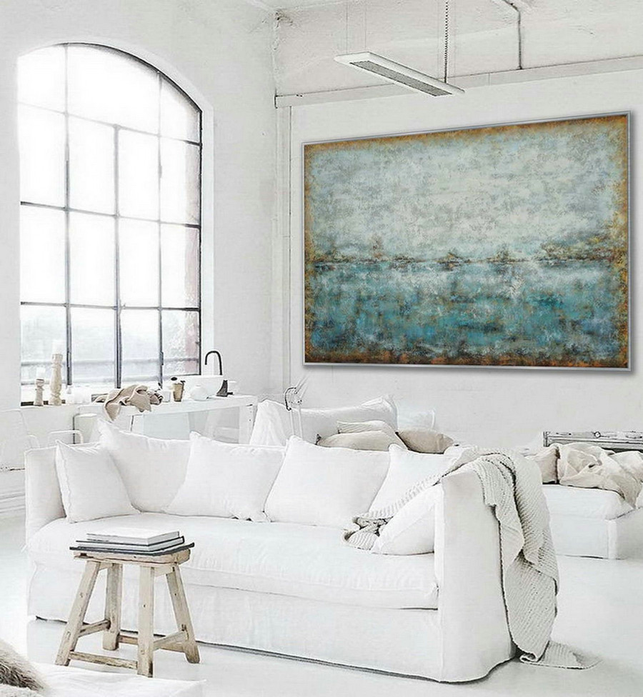 Minimal Modern Neutral Color Abstract Wall Art Work Simple Minimalist Contemporary Artwork Extra Large Horizontal Canvas Oil Painting,Triptych Canvas Art