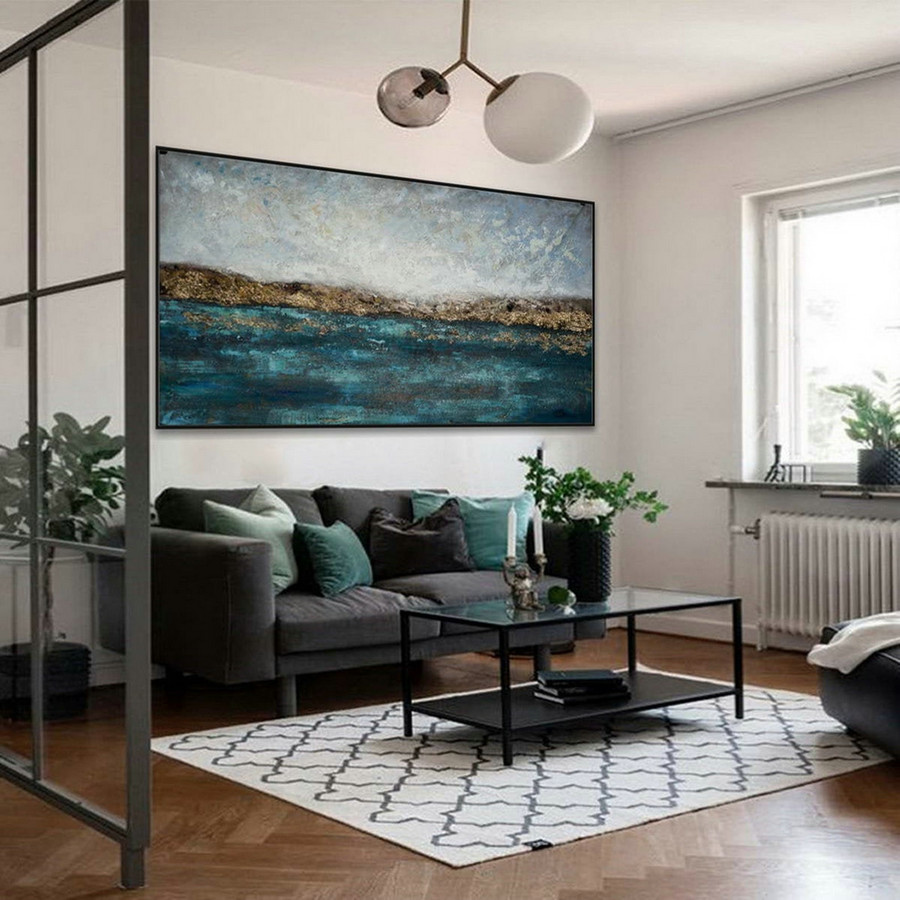 Minimalist Contemporary Modern Neutral Color Panoramic Canvas Wall Art Large Horizontal Texture Minimal Abstract Acrylic Painting ,Buy Large Canvas