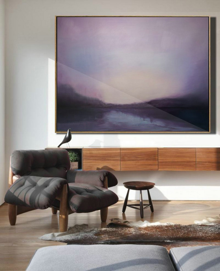 Sky And Sea Painting Artwork,Sea Level Oil Painting,Original Sky Abstract Oil Painting,Sky Canvas Oil Painting,Large Wall Art Oil Painting,Cheap Wall Art
