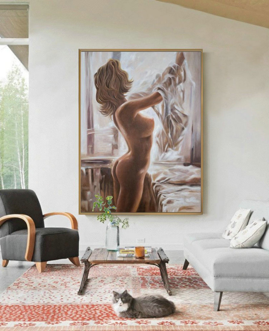 Nude Painting Decoration,Nudeart Women Painting Original,Nude Oil Painting,Sexy Woman,Nude Body Painting,Nude Woman,Nudes Oil Painting Art,Cheap Canvas Paintings