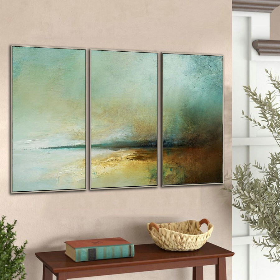 Original Large Ocean Canvas Painting,Landscape Abstract Painting,Large Sky Sea Painting,Beach Texture Painting,Wall Painting For Living Room,Giant Wall Canvas