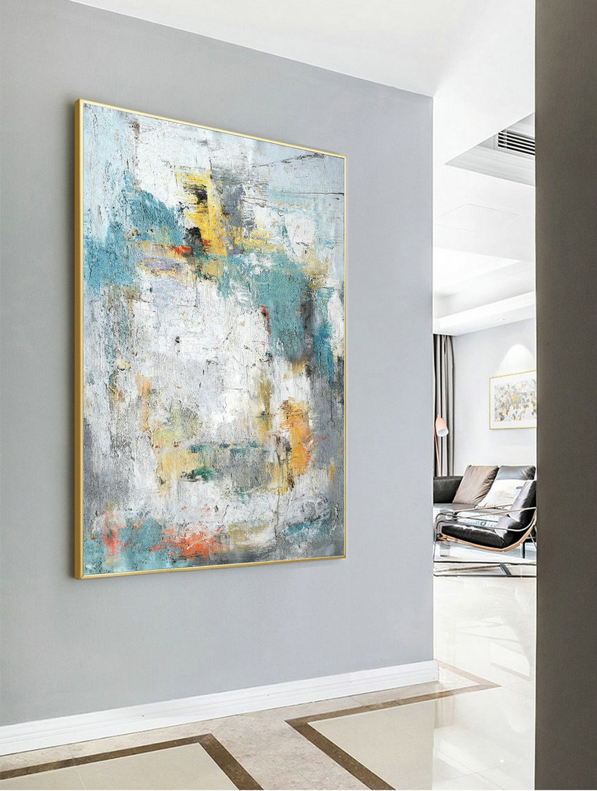 Large Acrylic Painting,Abstract Painting Cloud Painting Texture Art Abstract Original Painting On Canvas Wall Painting For Living Room,Art To Canvas