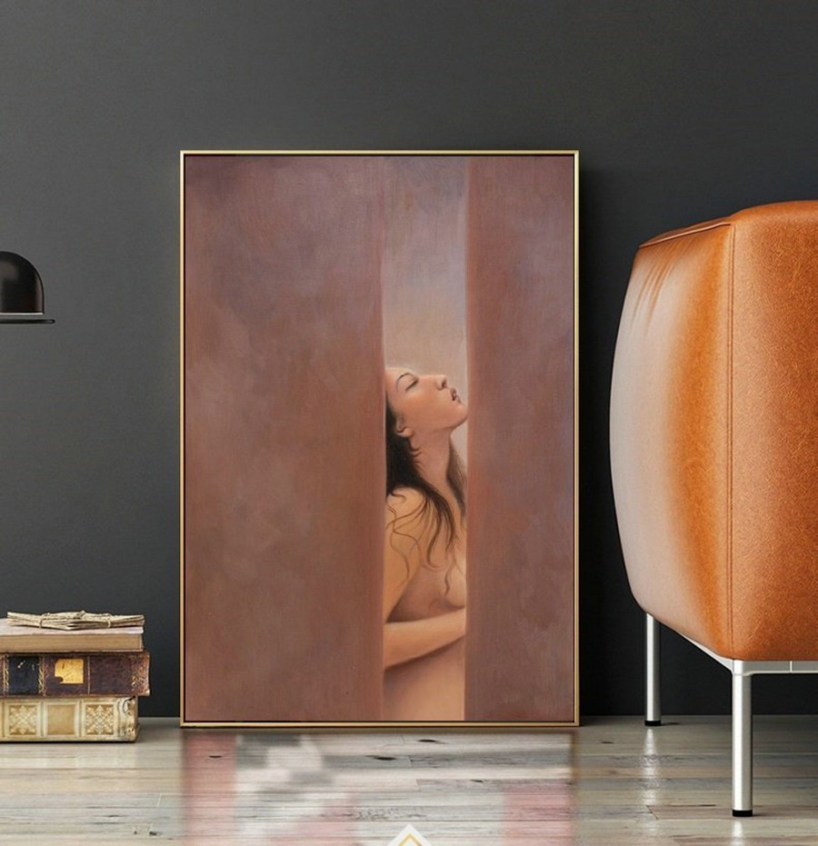 Nudeart Women Oil Painting Original, Nude Painting Decoration,Nude Oil Painting, Sexy Woman,Nude Body Painting,Nude Woman,Nudes Oil Painting,Modern Art On Canvas