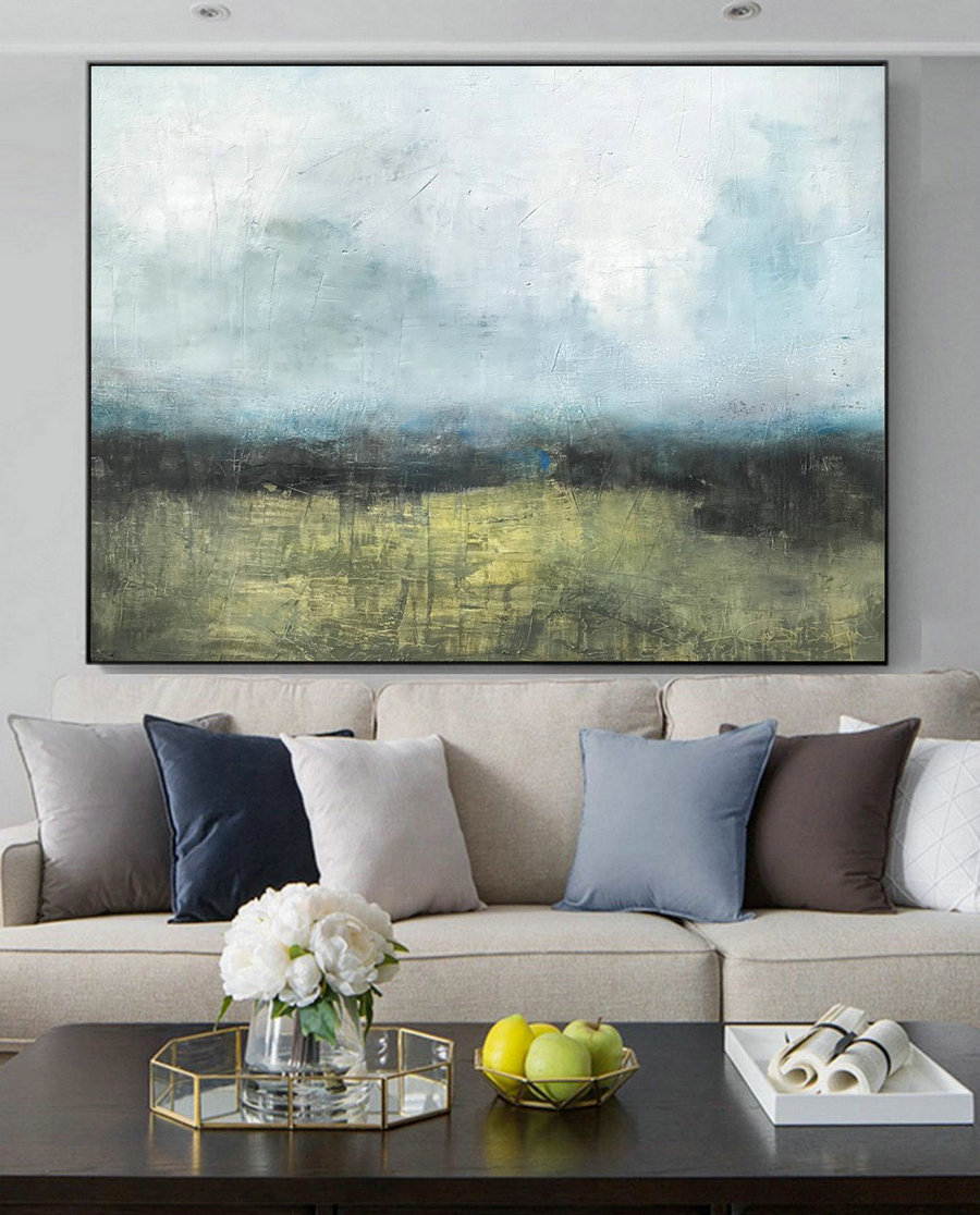 Large Landscape Oil Painting,Original Natural Landscape Abstract Canvas Painting,Large Wall Painting,Marine Landscape Painting,Sky Painting,Vertical Canvas Art