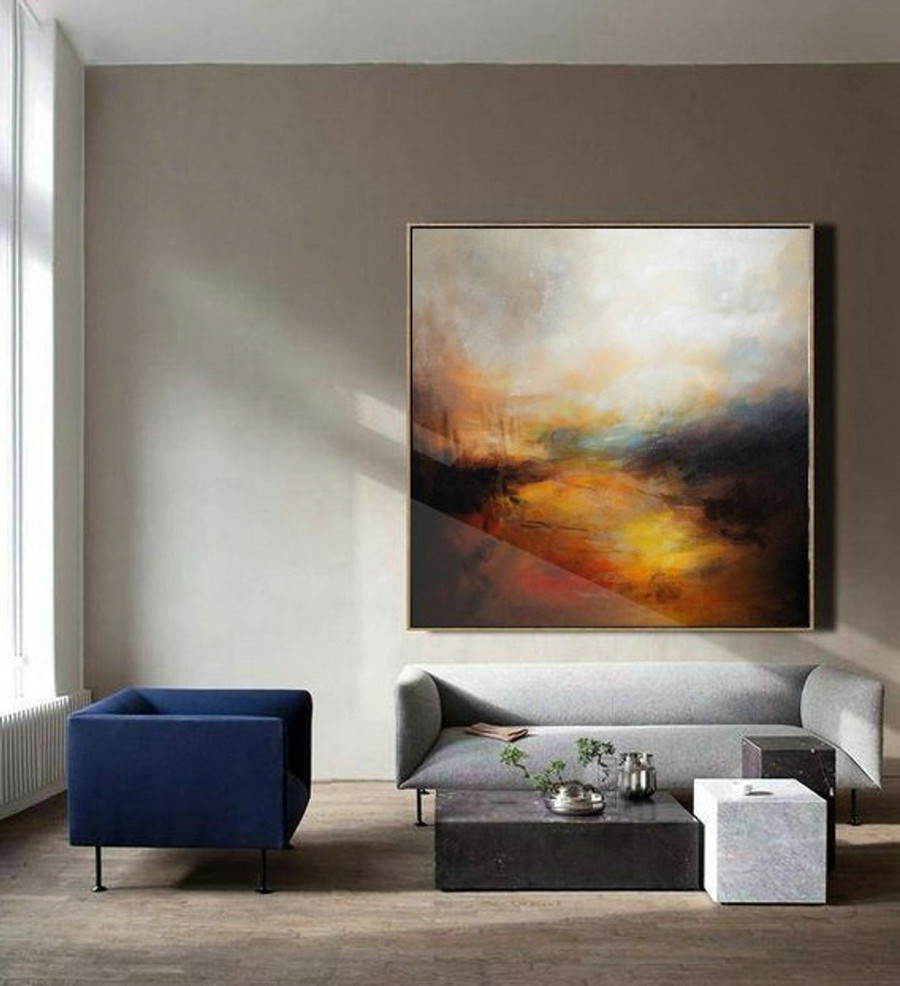 Large Cloud Abstract Painting,Sky Abstract Oil Painting,Skyline Oil Painting Artwork,Original Sky Art Oil Painting,Large Canvas Oil Painting,Extra Large Canvas