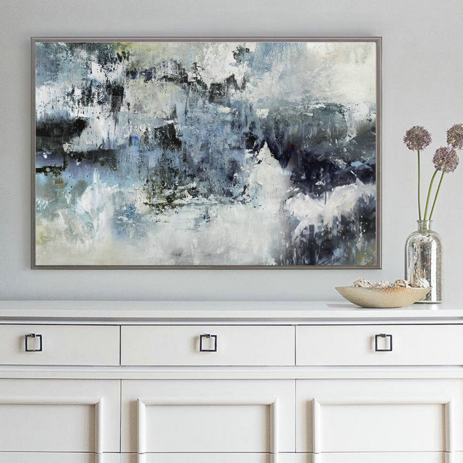 Large Wall Abstract Art Canvas Painting,Nature Abstract Painting,Large Abstract Painting,White Abstract Painting,Sofa Background Wall Art,Large Canvas Art Cheap