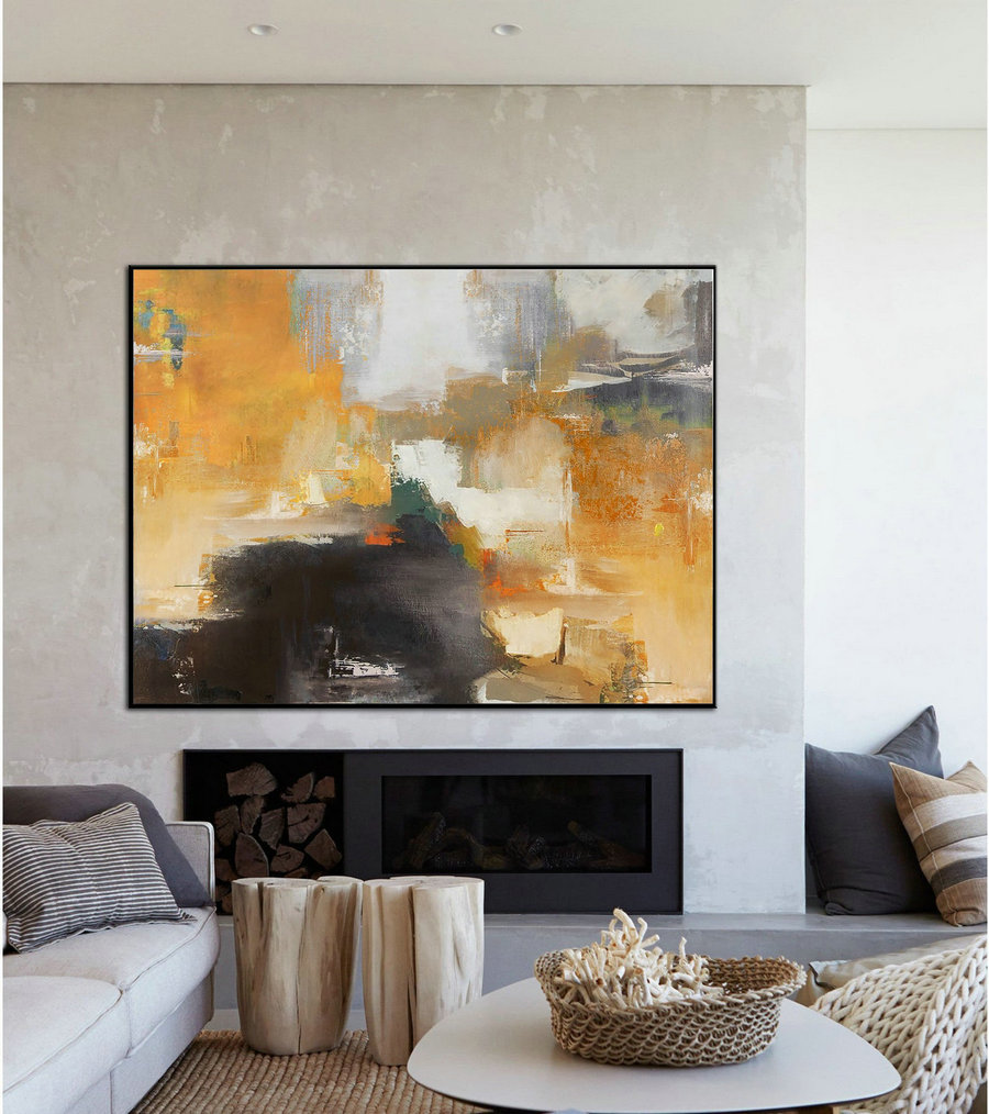 Large Original Art Painting, Large Wall Art Painting, Beige Painting Canvas Abstract Art, Original Abstract Oil Painting, Artwork Canvas Art,Big Wall Art Canvas