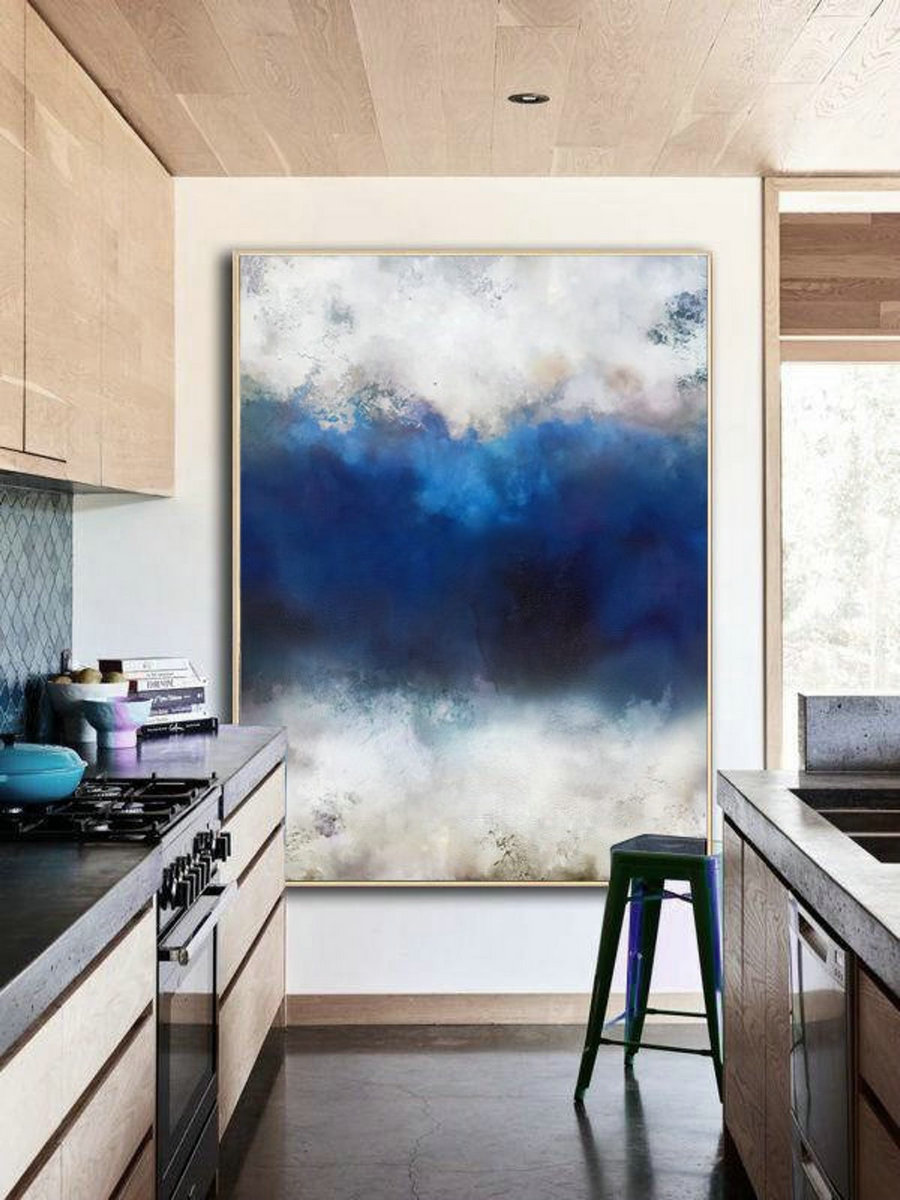 Original Cloud Abstract Painting,Large Cloud Abstract Landscape Painting,Large Wall Canvas Painting,Abstract Sky Painting,Large Abstract Art,Canvas Art Cheap