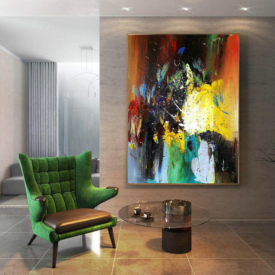 Original Abstract Art Painitng,Large Living Room Art Abstract Paintings On Canvas,Large Texture Abstract Painting,Acrylic Abstract Painting,Large Artwork For Sale