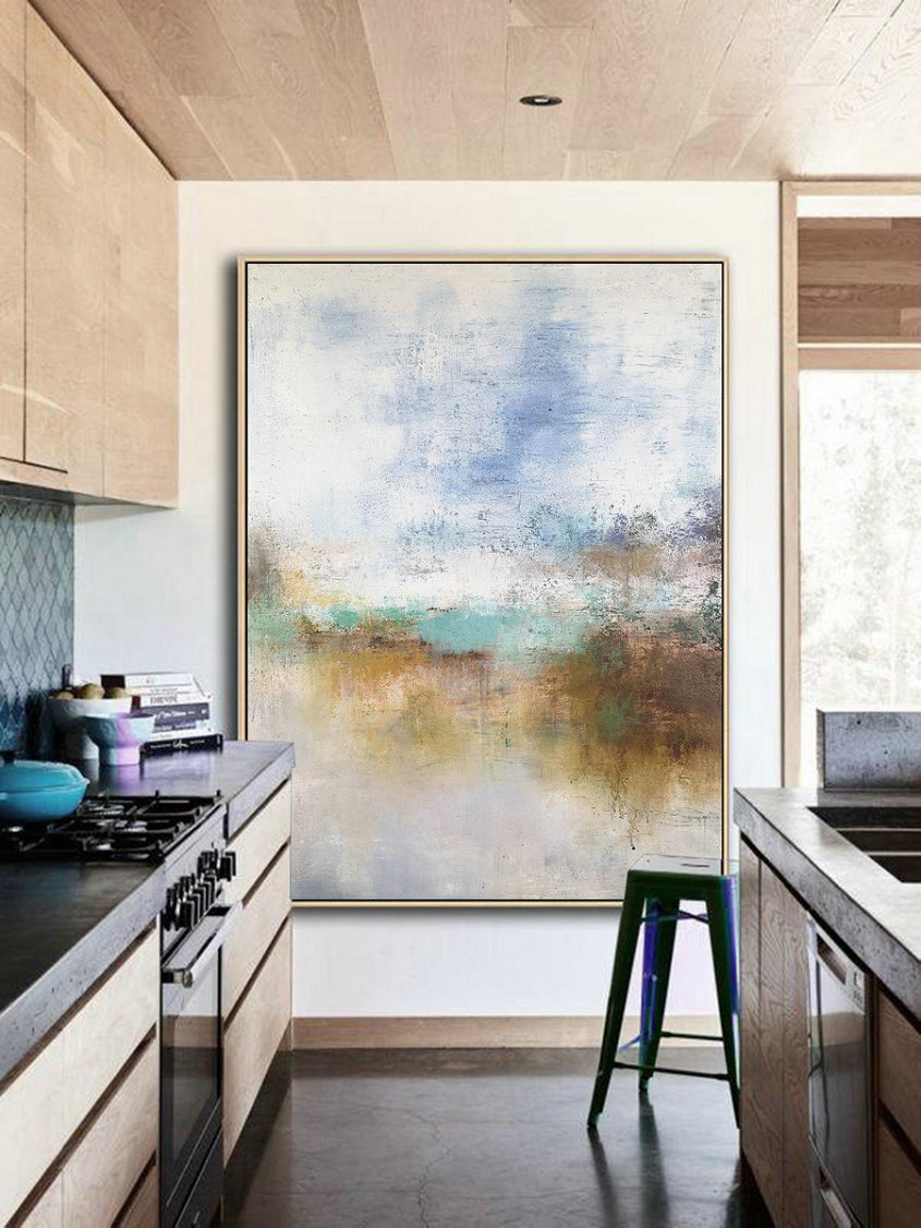 Landscape Abstract Painting, Brown Abstract Painting, Original Acrylic Abstract Painting, Sky Canvas Abstract Art, Sea Abstract Painting,Canvas Online