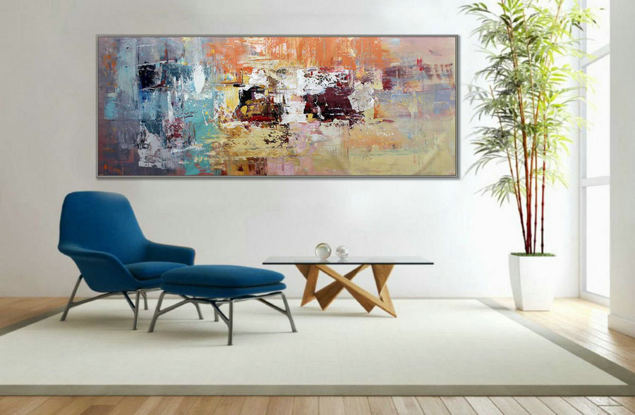 Wall Art Decor Painting Abstract Painting Modern Art 27X71Inch/70X180Cm 72Inch Large Painting 180Cm Xl,Very Large Canvas Paintings