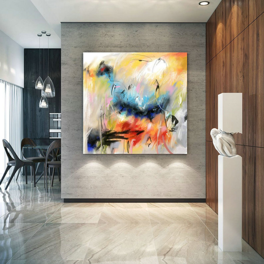 Extra Large Wall Art Decor For Home Office Original Painting,Painting On Canvas Modern Wall Decor Contemporary Art, Abstract Painting Pac183,Canvas Printing Services
