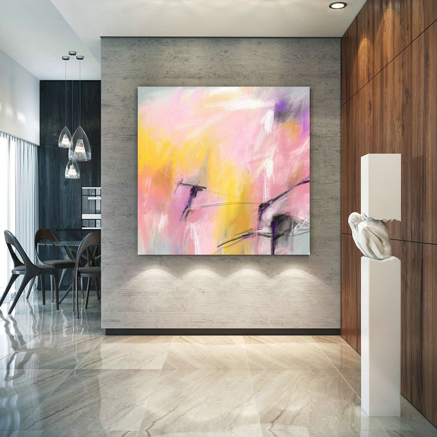 Extra Large Art On Canvas Art Deco Extra Original Painting,Painting On Canvas Modern Wall Decor Contemporary Art, Abstract Painting Pac251,Buy Huge Canvas