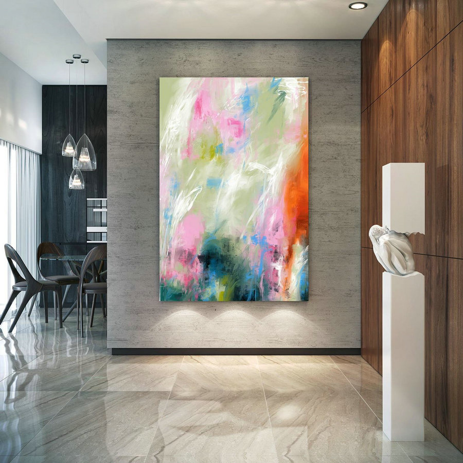 Extra Large Wall Art Palette Knife Artwork Original Painting,Painting On Canvas Modern Wall Decor Contemporary Art, Abstract Painting Pac368,Large Wall Paintings Cheap