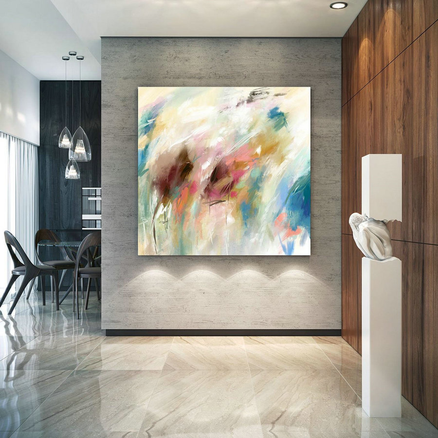 Extra Large Wall Art Palette Knife Artwork Original Painting,Painting On Canvas Modern Wall Decor Contemporary Art, Abstract Painting Pac396,Large Vertical Canvas Wall Art