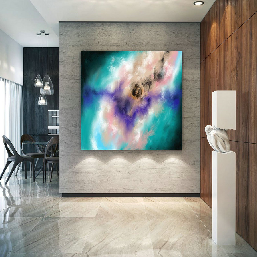Original Painting,Painting On Canvas Modern Wall Decor Contemporary Art, Abstract Painting Pac468,Large Digital Canvas