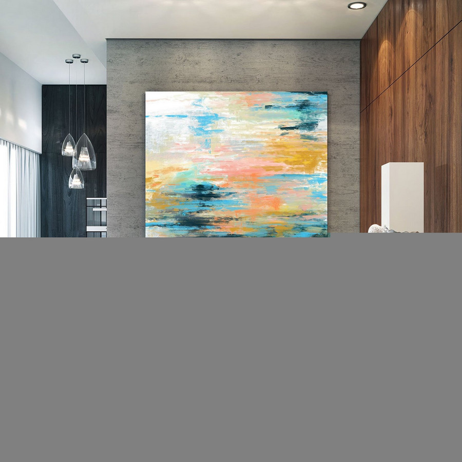 Extra Large Wall Art Palette Knife Artwork Original Painting,Painting On Canvas Modern Wall Decor Contemporary Art, Abstract Painting Pac349,Massive Canvas Paintings