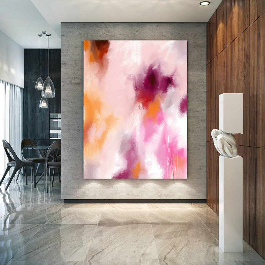 Original Painting,Painting On Canvas Modern Wall Decor Contemporary Art, Abstract Painting Pac452,Large White Art