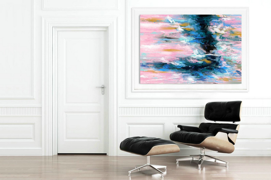 Extra Large Wall Art Palette Knife Artwork Original Painting,Painting On Canvas Modern Wall Decor Contemporary Art, Abstract Painting Pdc074,Buy Large Art