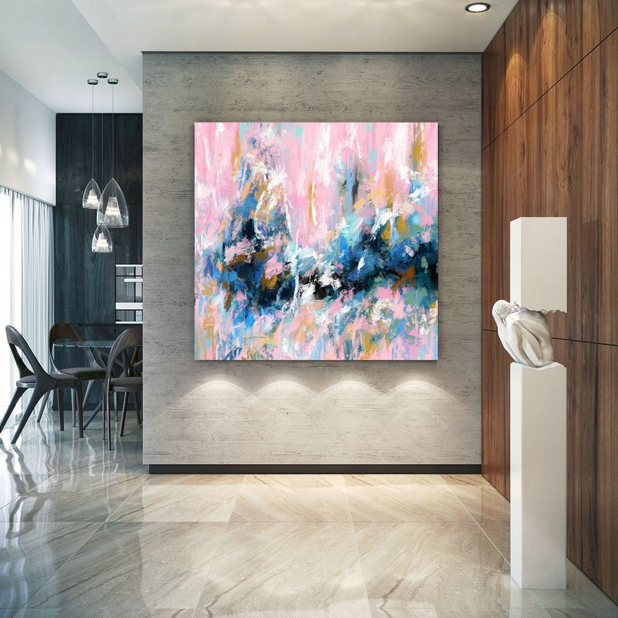 Extra Large Wall Art Palette Knife Artwork Original Painting,Painting On Canvas Modern Wall Decor Contemporary Art, Abstract Painting Pdc078,Large Portrait