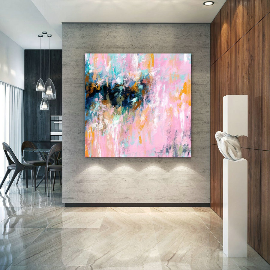 Extra Large Wall Art Palette Knife Artwork Original Painting,Painting On Canvas Modern Wall Decor Contemporary Art, Abstract Painting Pdc066,Wall Size Paintings