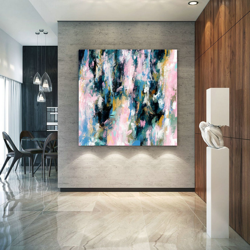 Extra Large Wall Art Palette Knife Artwork Original Painting,Painting On Canvas Modern Wall Decor Contemporary Art, Abstract Painting Pdc084,Huge Paintings Cheap
