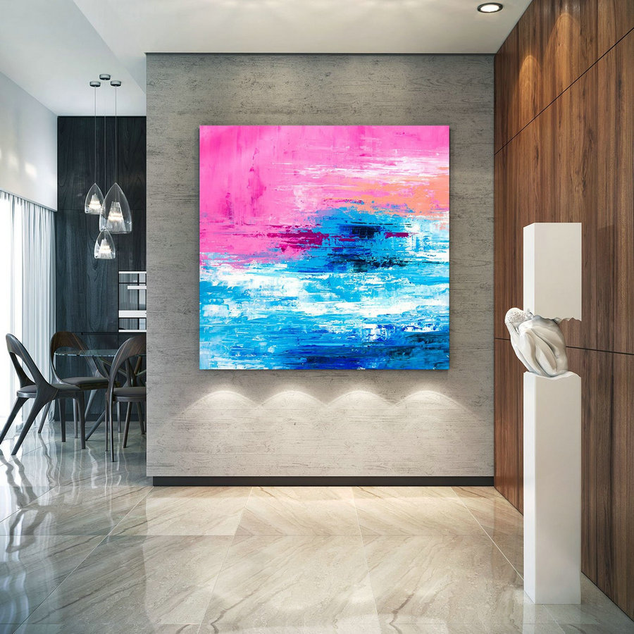 Large Abstract Painting, Original Canvas Art, Contemporary Wall Art, Modern Artwork, Office Wall Art, Extra Large Canvas Colorful Lac692,Modern Art Canvas Paintings For Sale