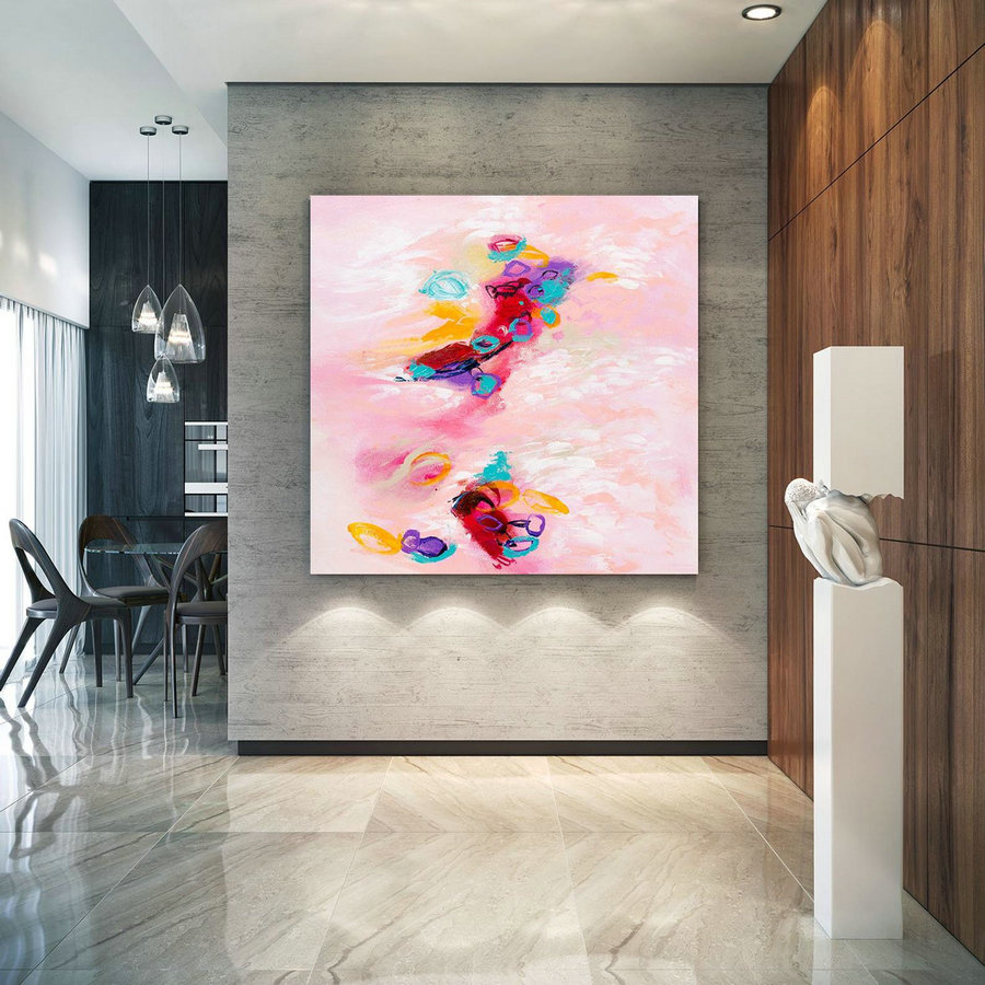 Extra Large Wall Art Original Art Bright Abstract Original Painting On Canvas Extra Large Artwork Contemporary Art Modern Home Decor Lac657,Big Wall