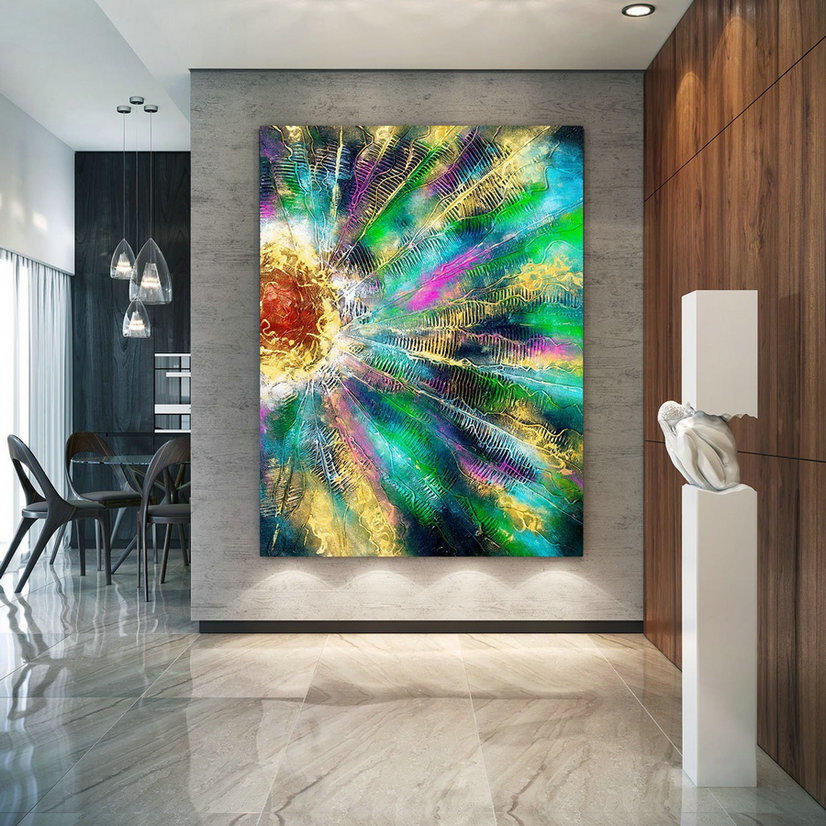 Extra Large Wall Art Original Painting On Canvas Contemporary Wallart Modern Abstract Living Room Wall Artcolorful Abstract Painting Lac653,Large White Canvas Art