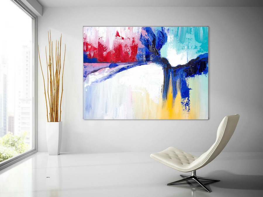 Extra Large Wall Art Original Handpainted Contemporary Xl Abstract Painting Horizontal Vertical Huge Size Art Bright And Colorful Lac710,Very Large Artwork For Sale