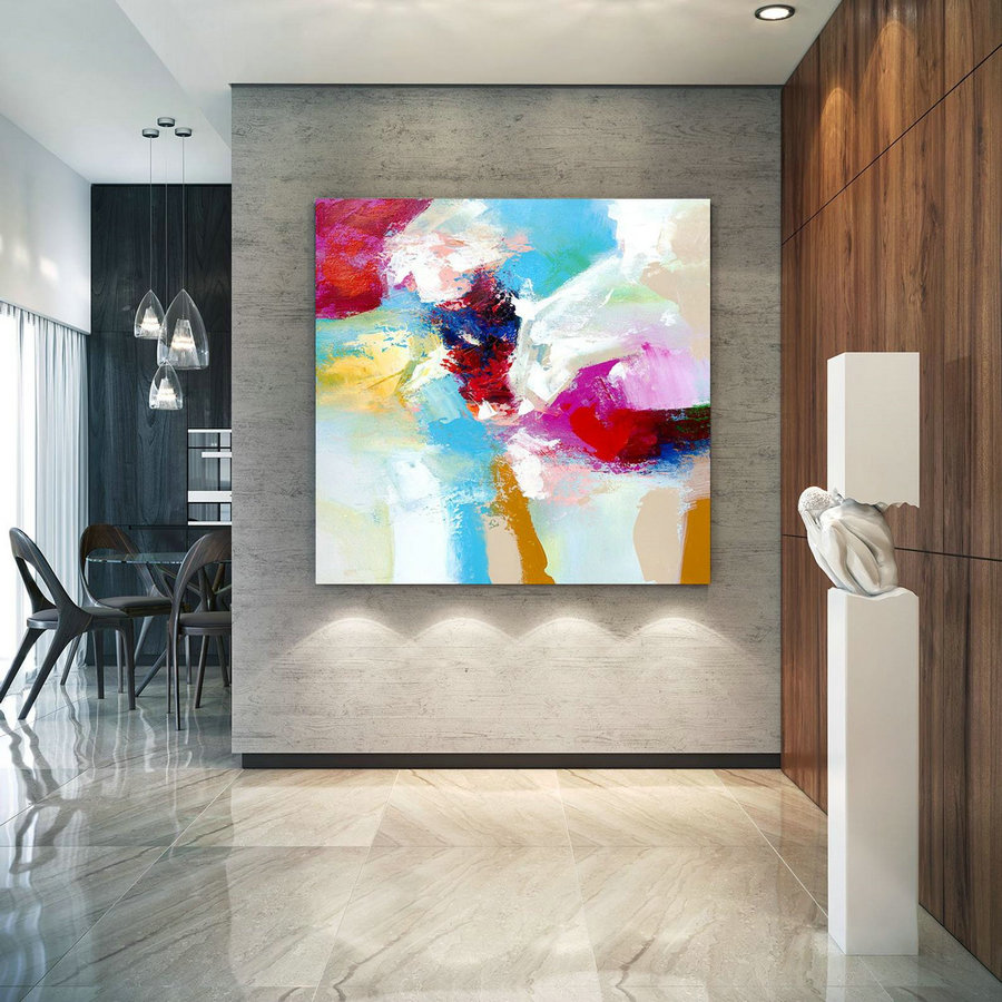 Extra Large Wall Art On Canvas, Original Abstract Paintings , Contemporary Art, Mdoern Living Room Decor ,Office Oversize Artworks Lac632,Large Canvas Contemporary Art