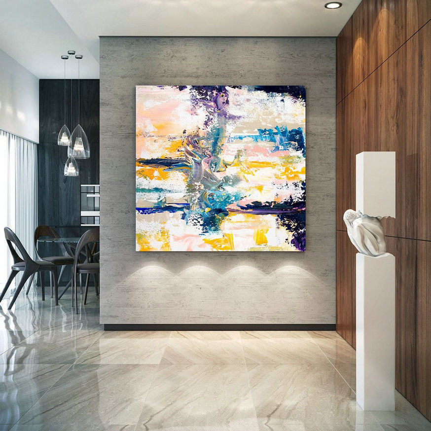 Extra Large Wall Art Original Handpainted Contemporary Xl Abstract Painting Horizontal Vertical Huge Size Art Bright And Colorful Lac709,Huge Wall Art Decor