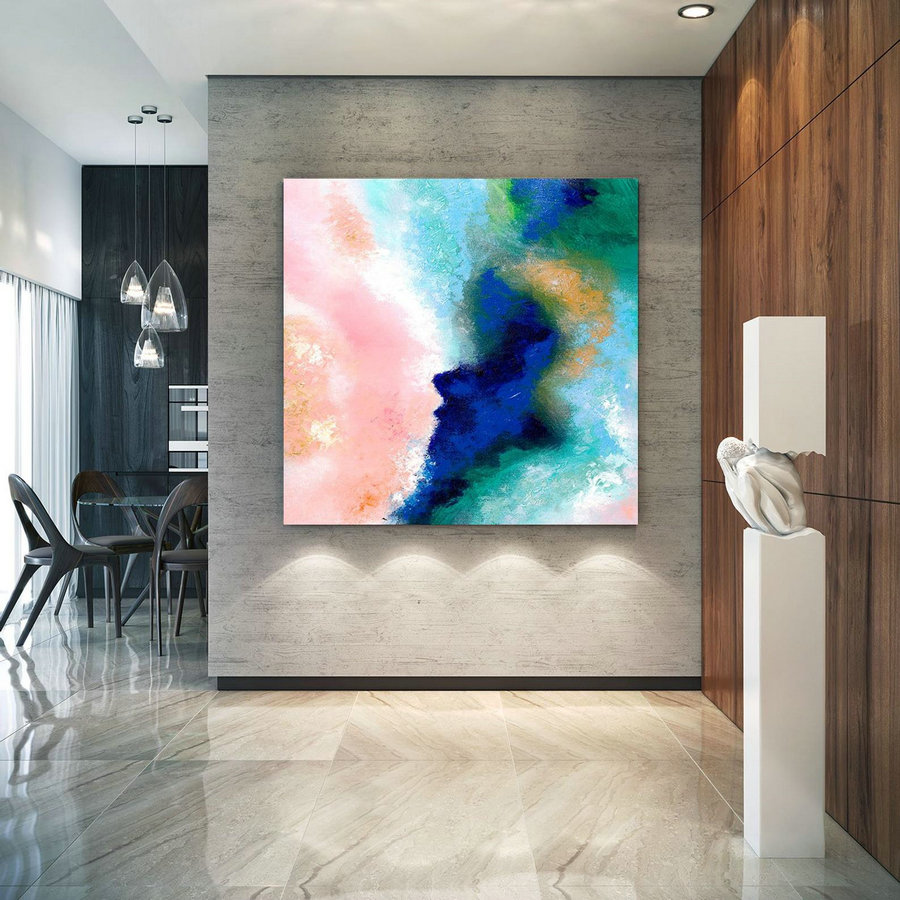Extra Large Wall Art On Canvas, Original Abstract Paintings , Contemporary Art, Mdoern Living Room Decor ,Office Oversize Artworks Lac630,Oversized Wall Art Canada