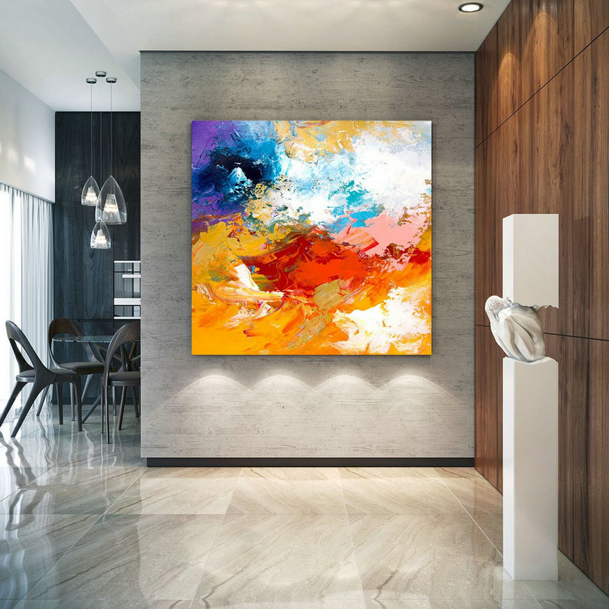 Extra Large Wall Art On Canvas, Original Abstract Paintings , Contemporary Art, Mdoern Living Room Decor ,Office Oversize Artworks Lac664,Large Photo For Walls