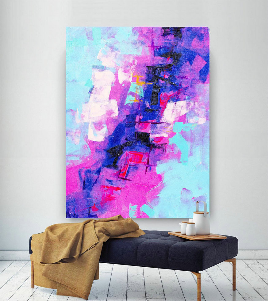 Extra Large Wall Art Original Painting On Canvas Contemporary Wallart Modern Abstract Living Room Wall Artcolorful Abstract Painting Lac649,Big Canvas Pictures