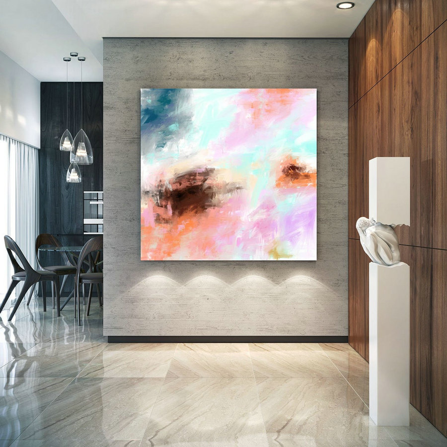 Abstract Canvas Art Extra Large Artwork Original Painting,Painting On Canvas Modern Wall Decor Contemporary Art, Abstract Painting Pac364,Hugeprint