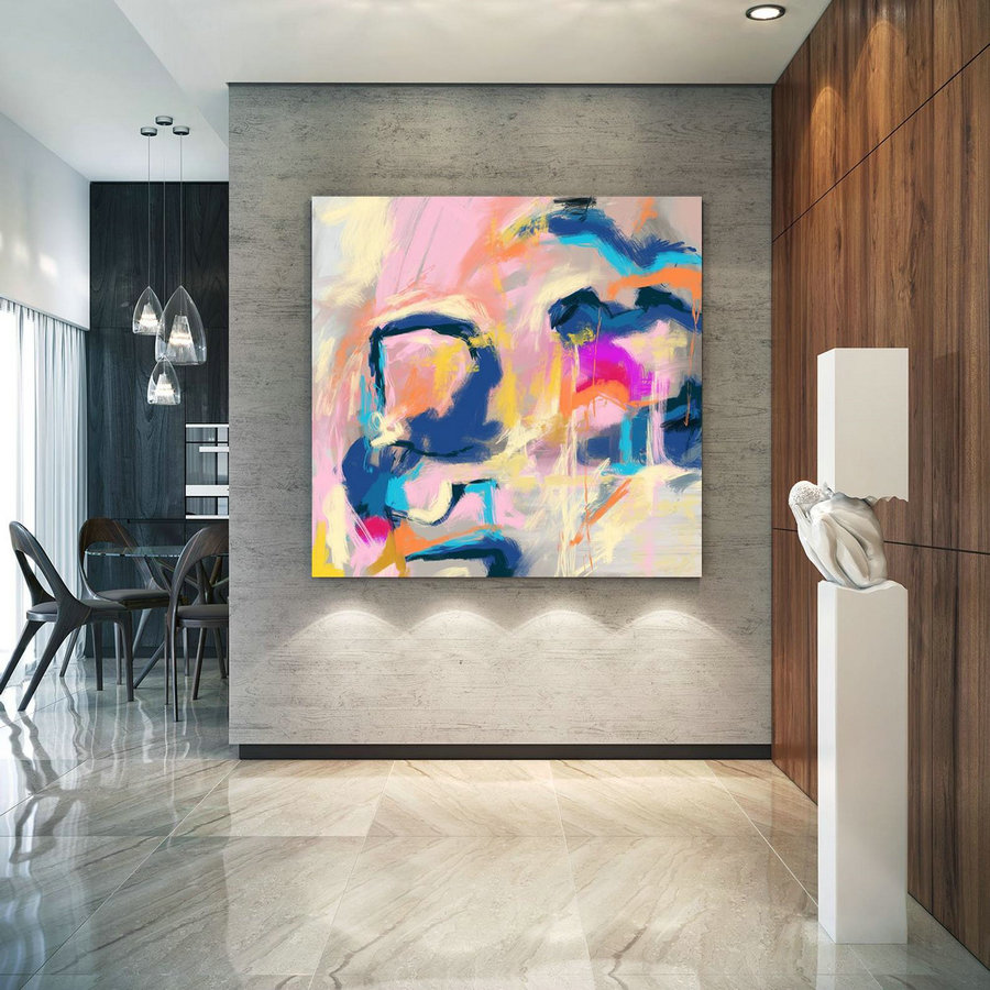 Extra Large Wall Art Palette Knife Artwork Original Painting,Painting On Canvas Modern Wall Decor Contemporary Art, Abstract Painting Pac370,Huge Photo Canvas