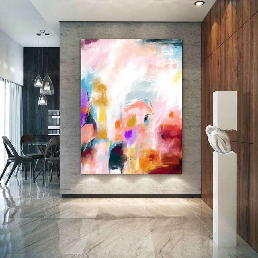 Extra Large Wall Art Palette Knife Artwork Original Painting,Painting On Canvas Modern Wall Decor Contemporary Art, Abstract Painting Pac374,Large Art Online
