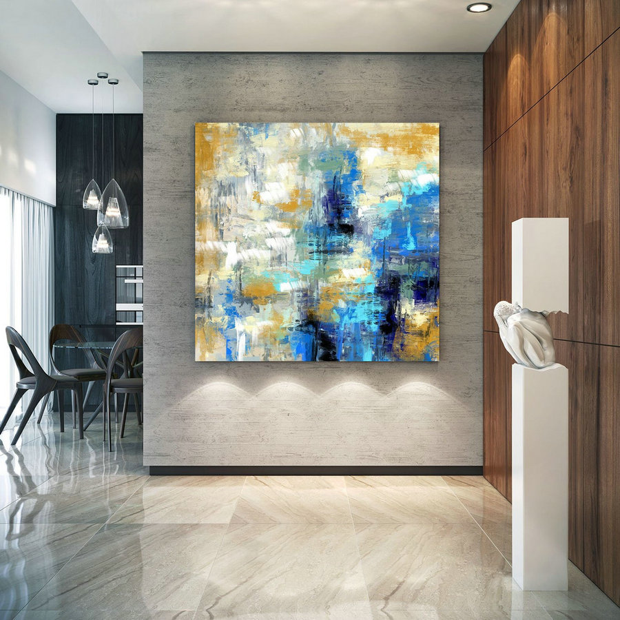 Extra Large Wall Art Palette Knife Artwork Original Painting,Painting On Canvas Modern Wall Decor Contemporary Art, Abstract Painting Pac351,Get Large Canvas