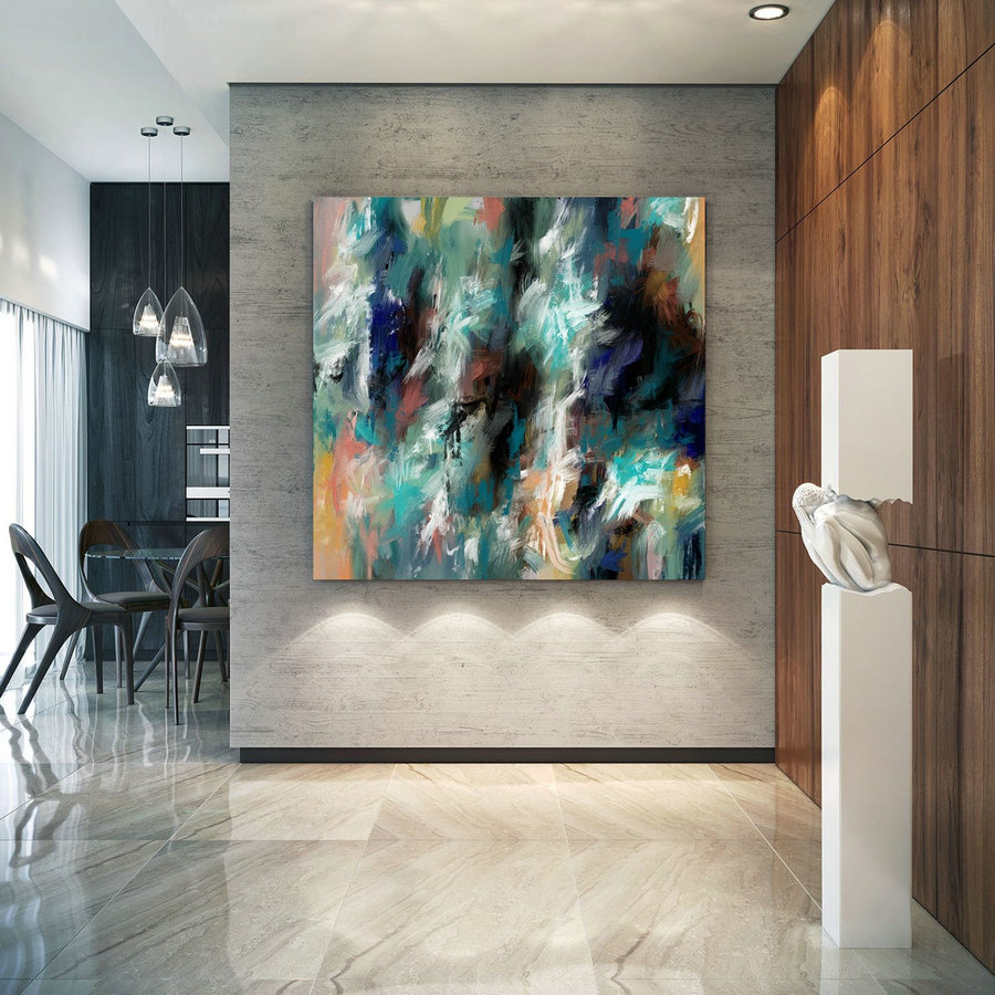 Extra Large Wall Art Palette Knife Artwork Original Painting,Painting On Canvas Modern Wall Decor Contemporary Art, Abstract Painting Pac409,Buy Big Canvas For Painting
