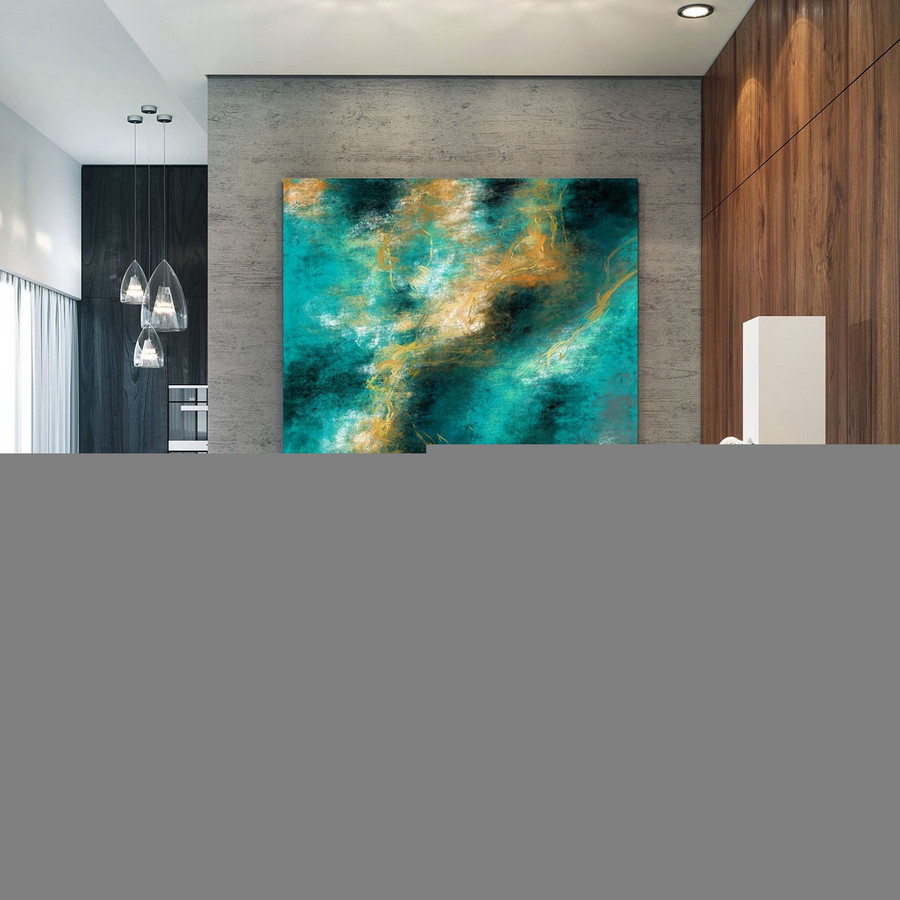 Extra Large Wall Art Palette Knife Artwork Original Painting,Painting On Canvas Modern Wall Decor Contemporary Art, Abstract Painting Pac497,Painted Canvas Artwork