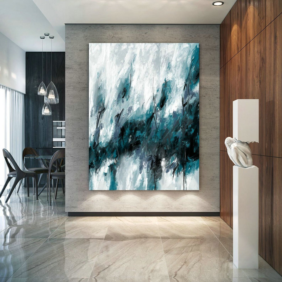 Extra Large Wall Art Textured Painting Original Painting,Painting On Canvas Modern Wall Decor Contemporary Art, Abstract Painting Pac432,Extra Wide Wall Art