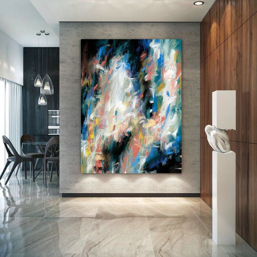 Extra Large Wall Art Textured Painting Original Painting,Painting On Canvas Modern Wall Decor Contemporary Art, Abstract Painting Pac406,Where To Order Large Canvas