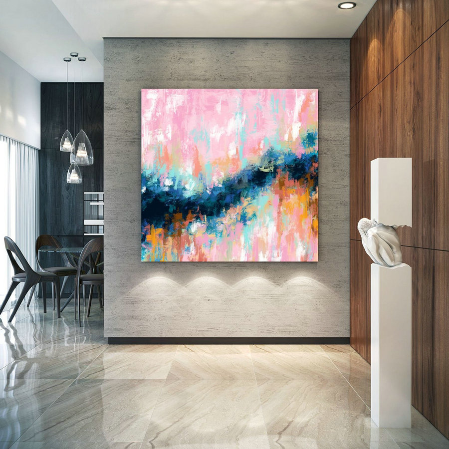 Extra Large Wall Art Palette Knife Artwork Original Painting,Painting On Canvas Modern Wall Decor Contemporary Art, Abstract Painting Pdc070,Large Wall Paintings
