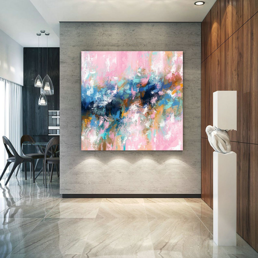 Extra Large Wall Art Palette Knife Artwork Original Painting,Painting On Canvas Modern Wall Decor Contemporary Art, Abstract Painting Pdc075,Large Size Artwork