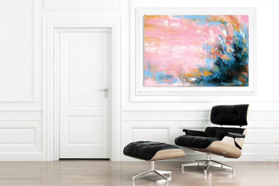 Extra Large Wall Art Palette Knife Artwork Original Painting,Painting On Canvas Modern Wall Decor Contemporary Art, Abstract Painting Pdc077,Canvas Art By Size