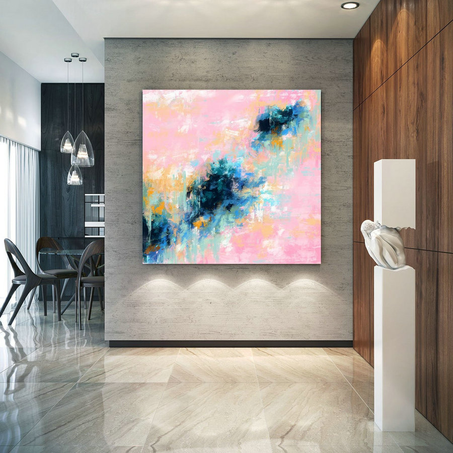 Extra Large Wall Art Palette Knife Artwork Original Painting,Painting On Canvas Modern Wall Decor Contemporary Art, Abstract Painting Pdc069,Large Pictures For Sale