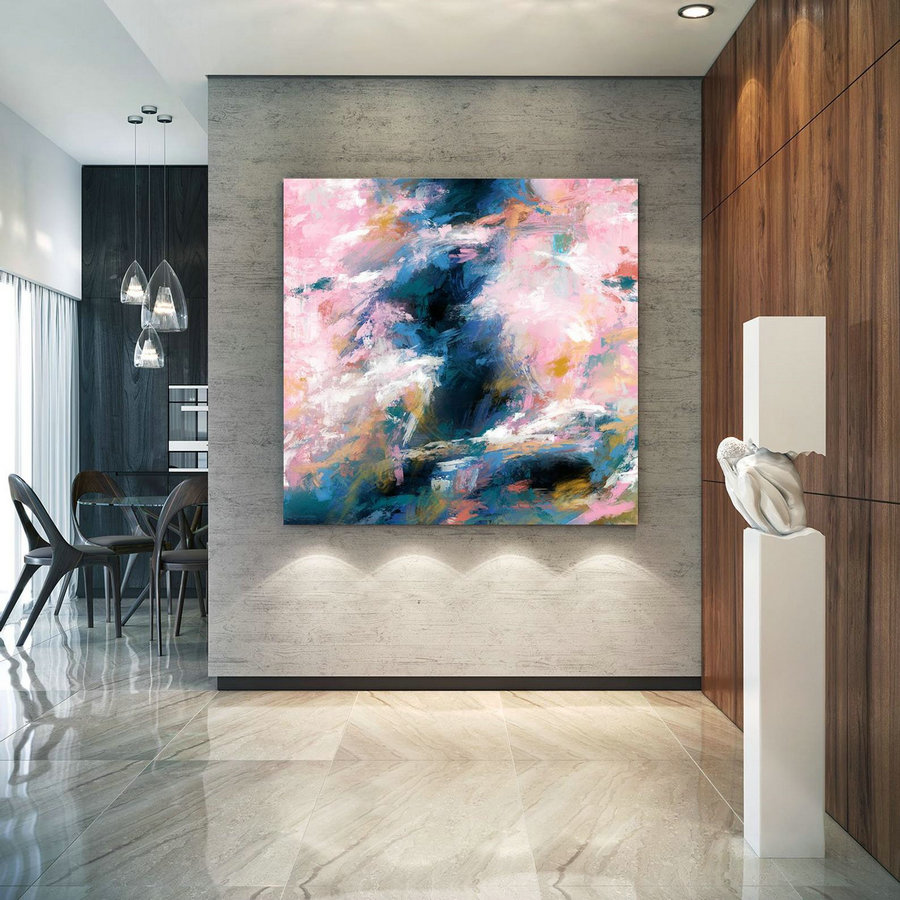 Extra Large Wall Art Palette Knife Artwork Original Painting,Painting On Canvas Modern Wall Decor Contemporary Art, Abstract Painting Pdc086,Extra Large Paintings For Sale