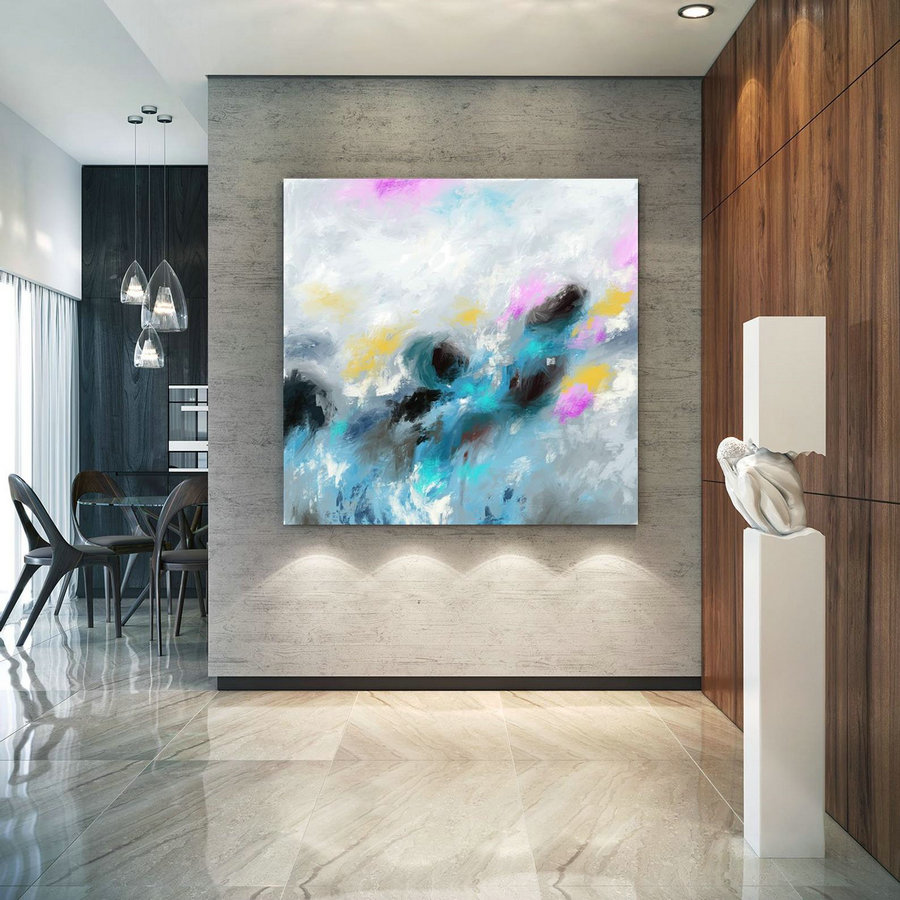 Extra Large Wall Art Palette Knife Artwork Original Painting,Painting On Canvas Modern Wall Decor Contemporary Art, Abstract Painting Pic020,Extra Large Wall Art