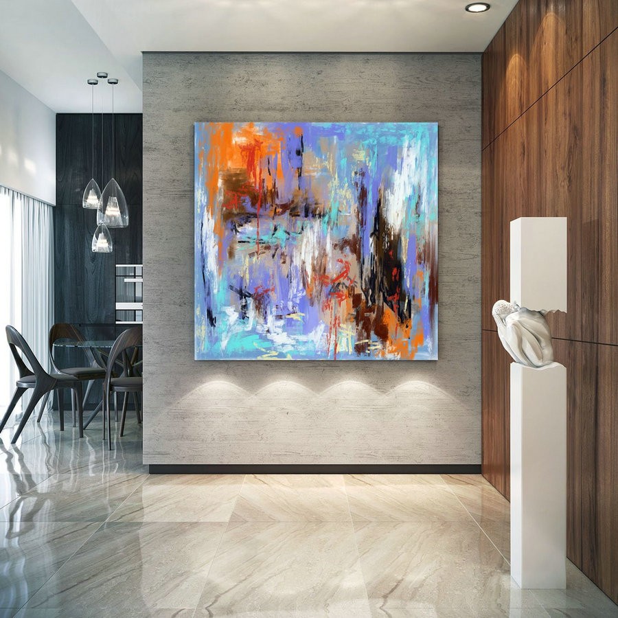 Extra Large Wall Art Palette Knife Artwork Original Painting,Painting On Canvas Modern Wall Decor Contemporary Art, Abstract Painting Pic040,Oversized Wall Art